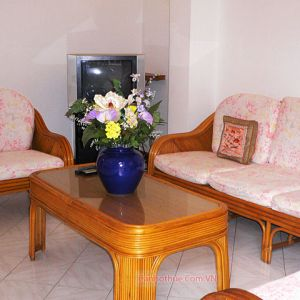La Vu Apartment 2 bedrooms, the wooden furnitures, price 600 usd