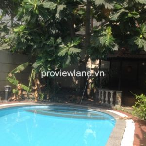 Villa for sale in Thao Dien in Compound Xuan Thuy 489 sqm 4 BRs pool and small garden