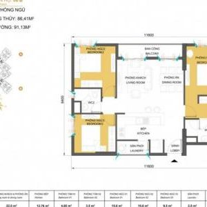 Apartment Masteri Thao Dien for sale in on high floor block T1