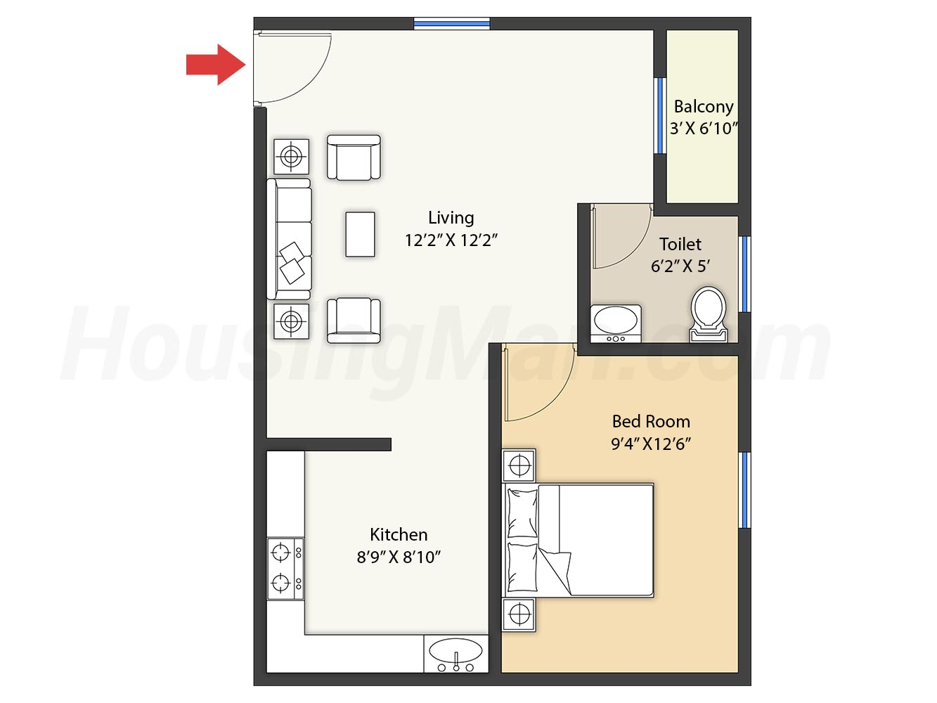1bhk 1t 679 t