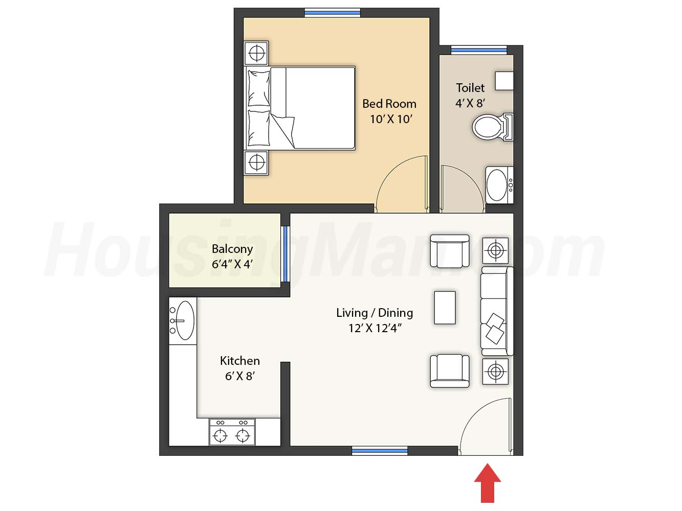 1bhk 1t 545 t
