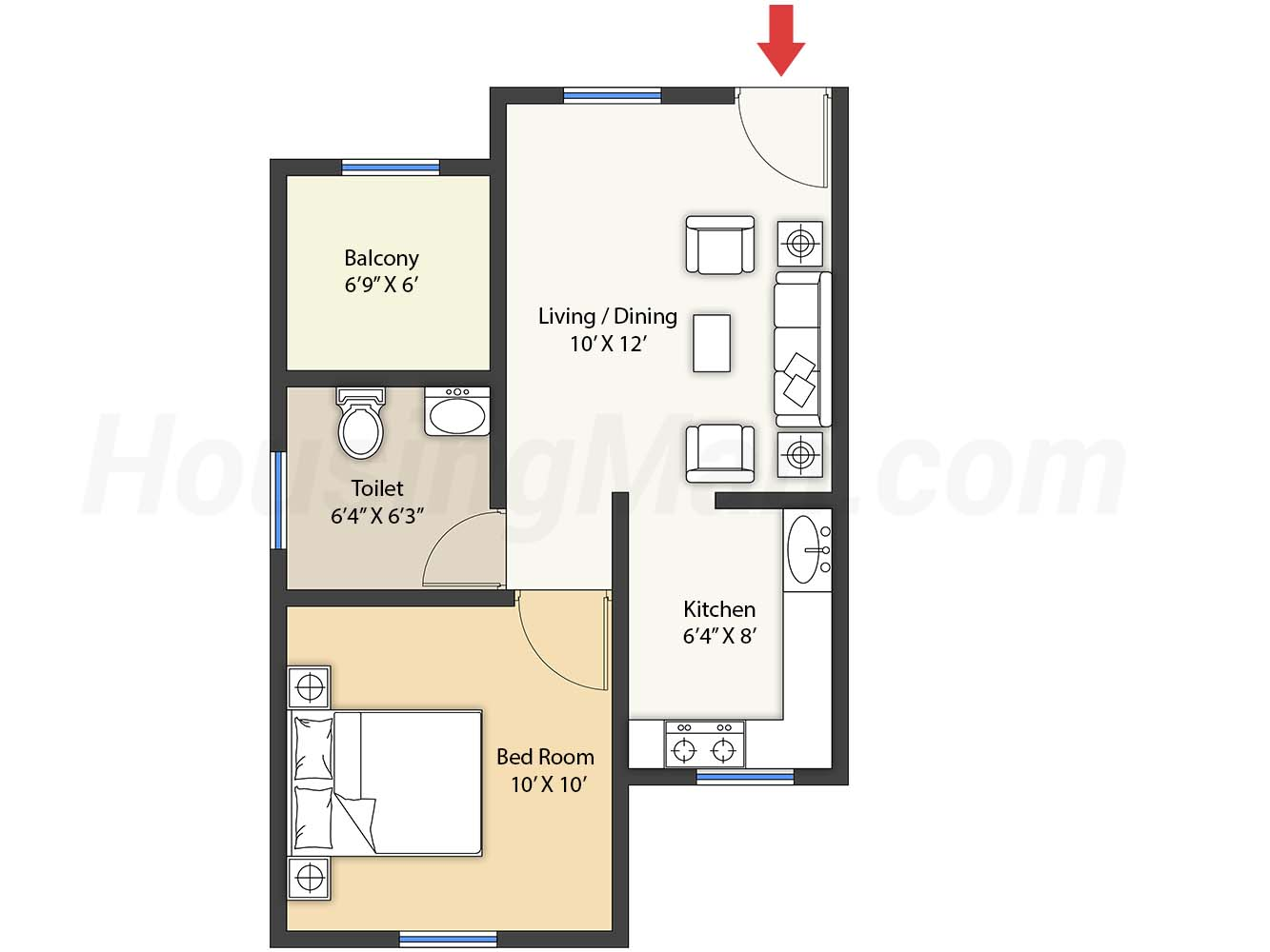 1bhk 1t 559 t