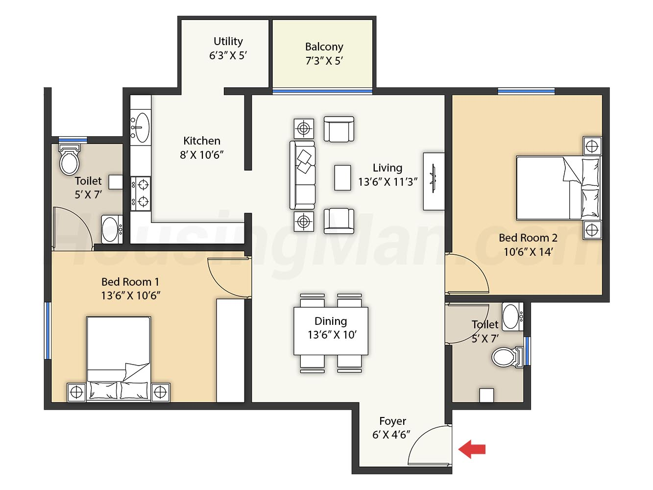2bhk 2t 1118 t