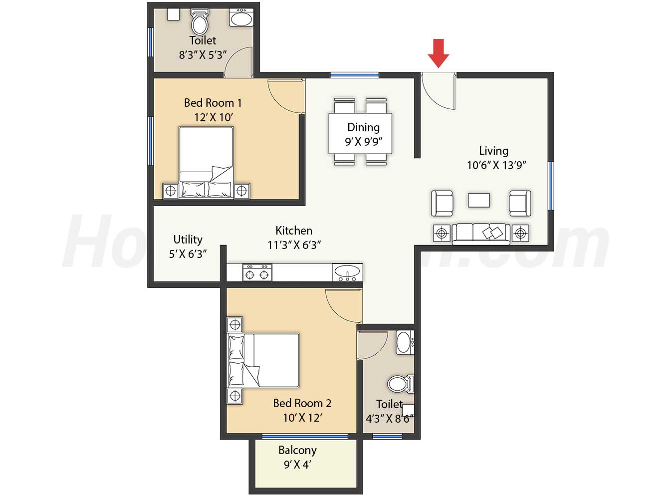 2bhk 2t 1080 t