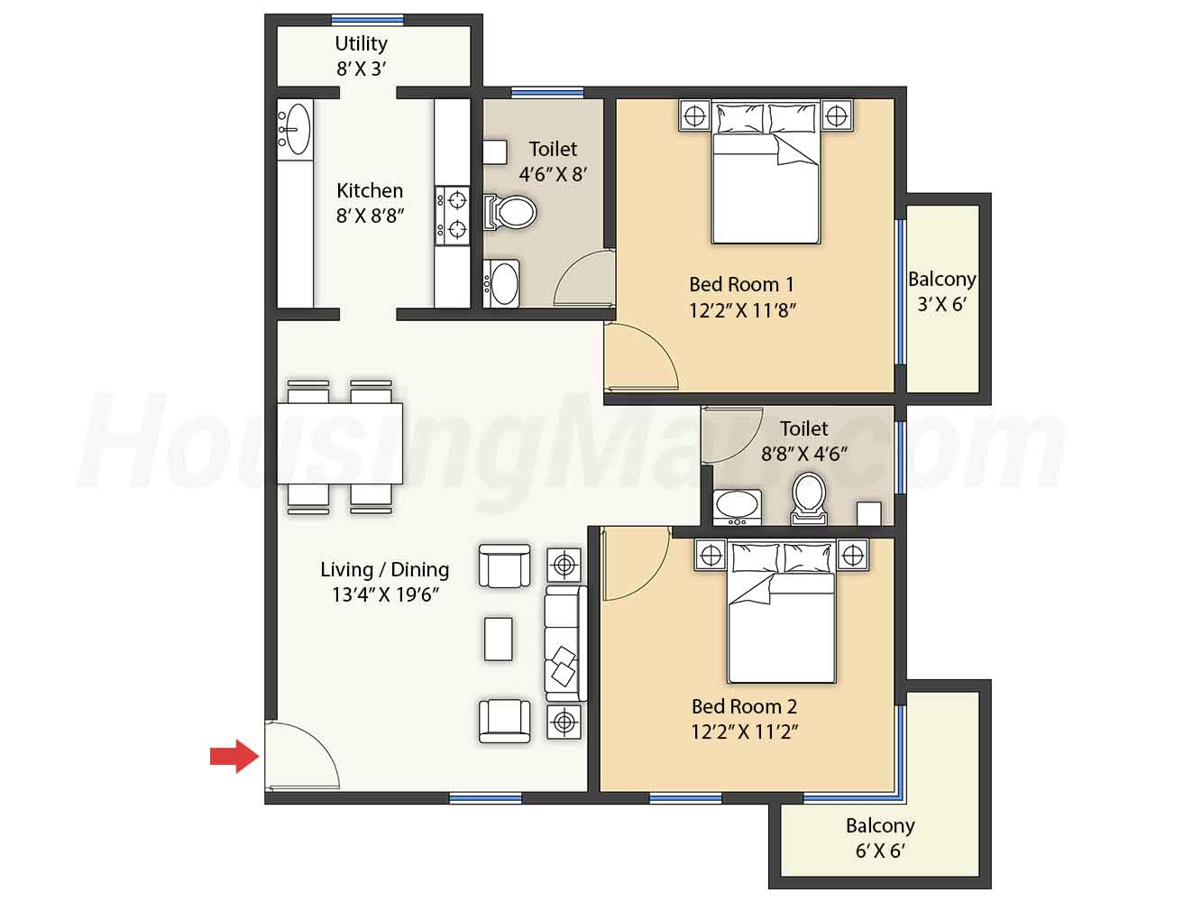 2bhk 2t 1003 t
