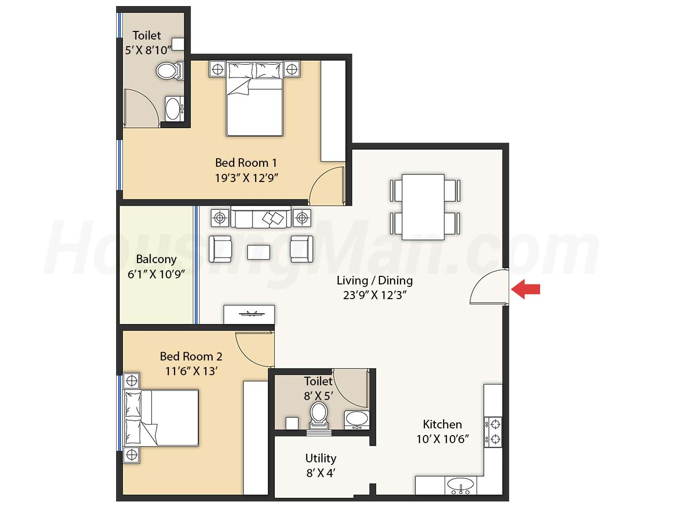 2bhk 2t 1313 t