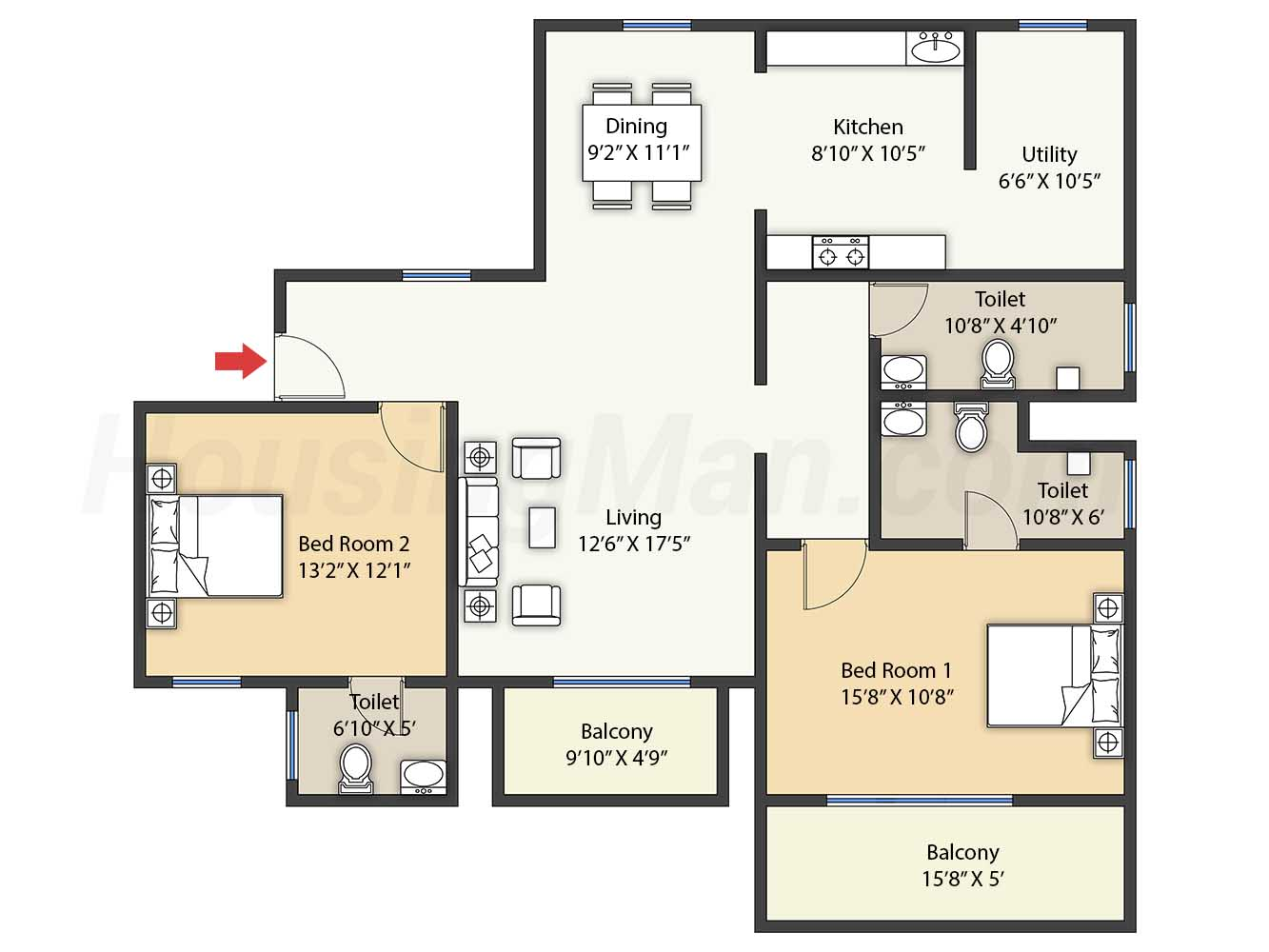 2bhk 2t 1321 t