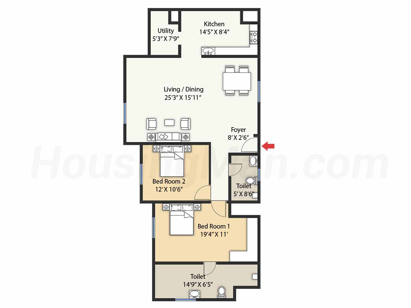 2bhk 2t 1790 t