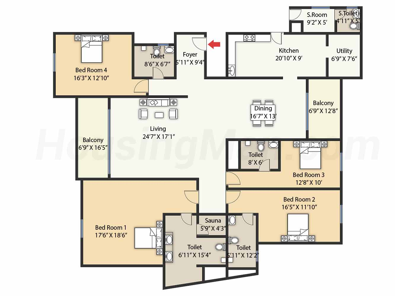 4bhk 5t 4077 t