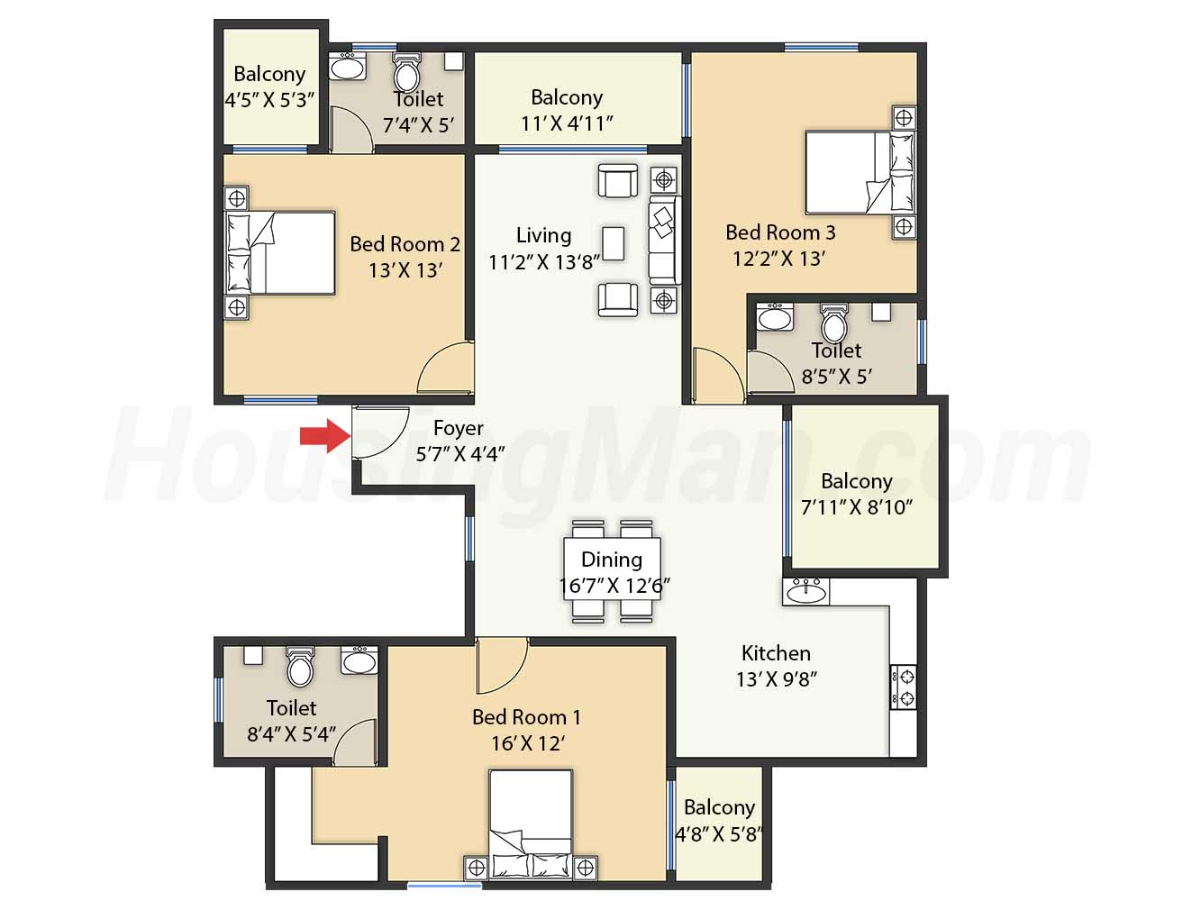 3bhk 3t 1850 t