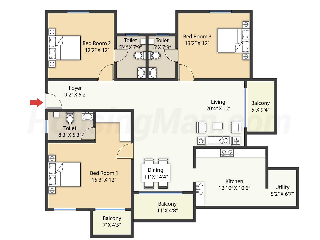 3bhk 3t 1875 t