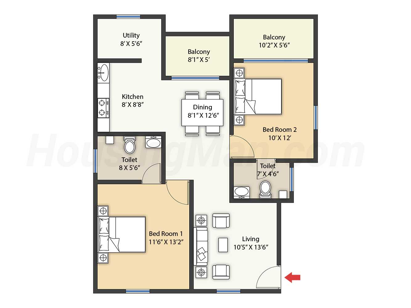2bhk 2t 1031 t