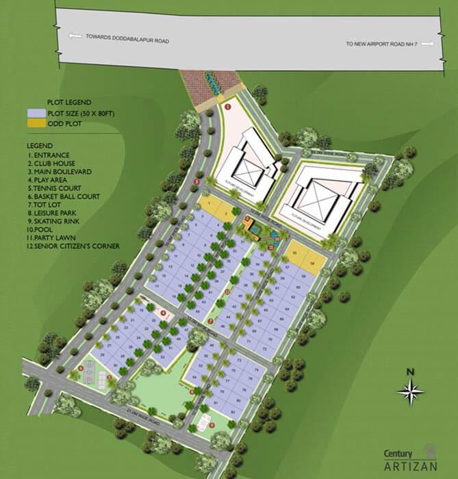 Century Artizan Plot Yelahanka Bangalore 16440