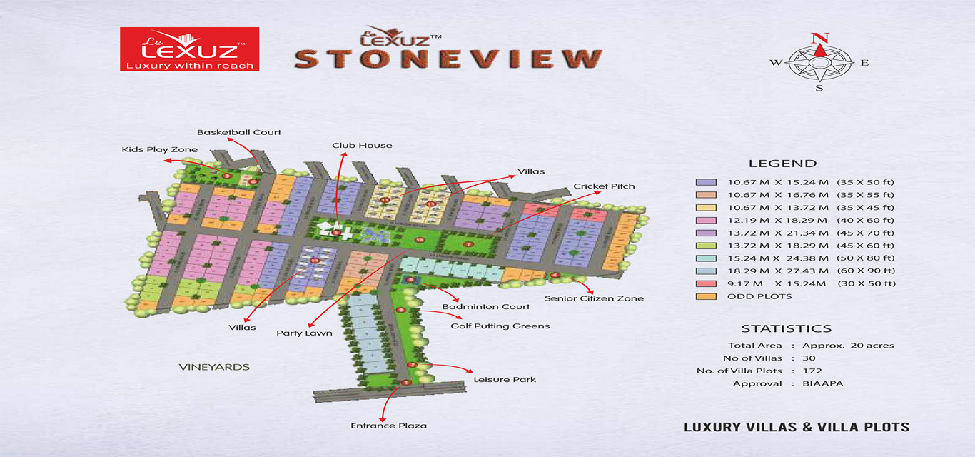 Le Lexuz Stoneview Plot Off Chapparkal Road Bangalore banner