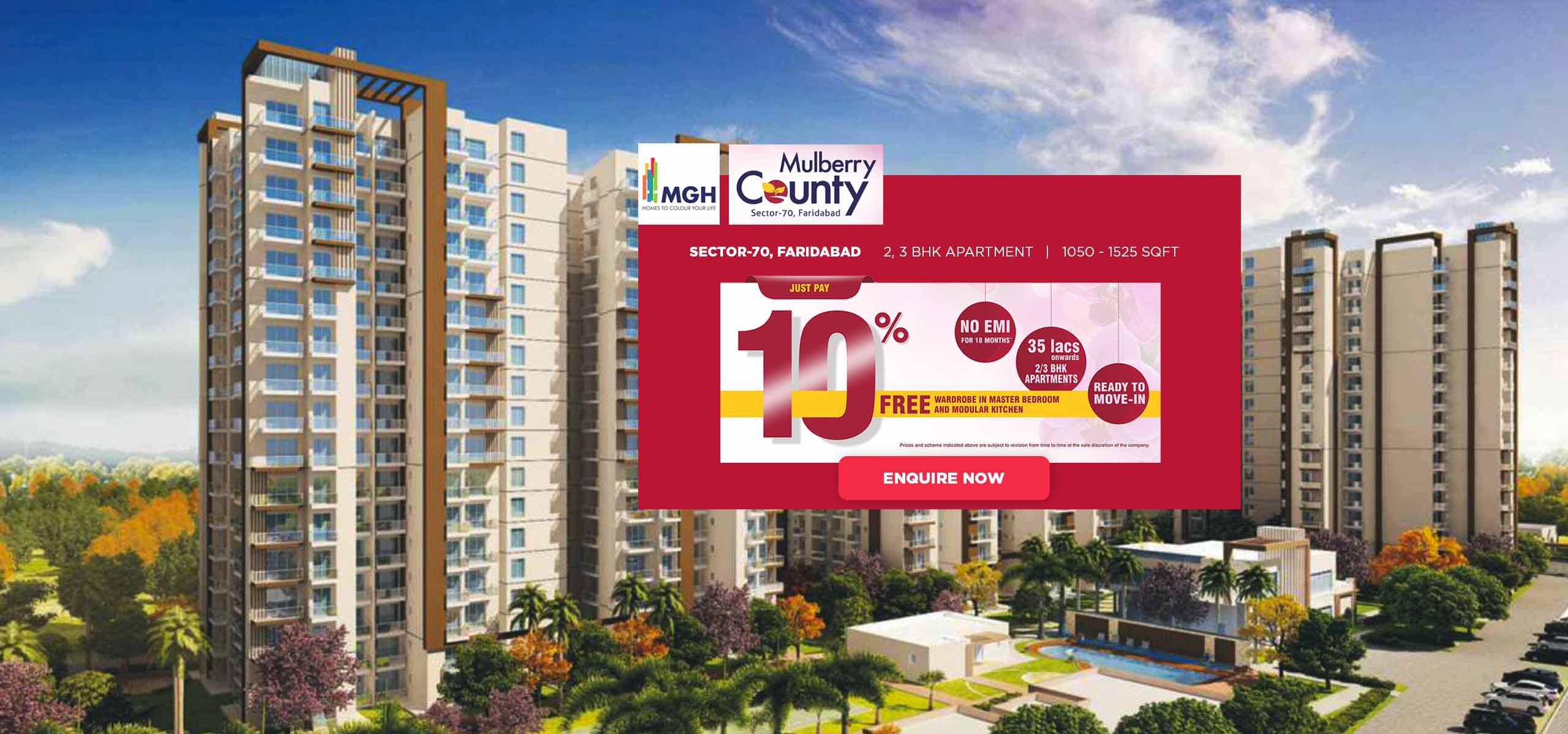 MGH Mulberry County Sector 70 Faridabad banner