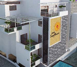 Linea sunflower tile