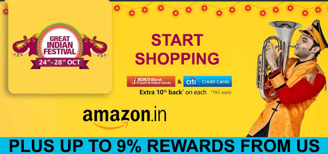 indiancashback-Amazon-in-Great-Indian-Festival-Days-24th-To-28th-Oct--Get-Up-To-80percent-Off-On-All-Products---Extra-10perce