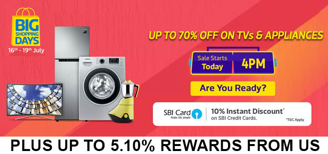 indiancashback-Big-Shopping-Days-Offer--Get-up-to-70percent-off-on-TVs-and-Appliance---10percent-instant-discount-with-SBI-ca