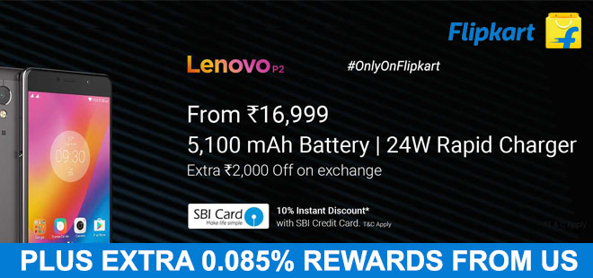 indiancashback-Buy-Lenovo-P2-4GB-RAM-32GB-ROM-For-Just-Rs-17-999---Bank-Offer---Exchange-Offer----Additional-0-085percent-rew