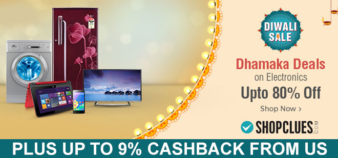 indiancashback-Diwali-Dhamaka-Deals-on-Electronics--Up-to-80percent-off---Up-to-9percent-cashback-from-us