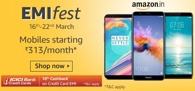 indiancashback-Emi-Fest--Get-up-to-10percent-off-on-Electronic-mobile---Furniture---10percent-off-via--ICICI-bank-credit-card