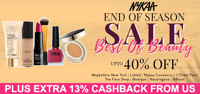 indiancashback-End-of-Season-Sale--Up-to-40percent-off------Additional-13percent-cashback-from-us