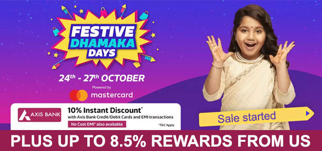 indiancashback-Festive-Dhamaka-Days-24th-To-27th-Oct---Get-up-to-80percent-Off---Extra-Instant-Discount--With-Axis-Bank-Debit