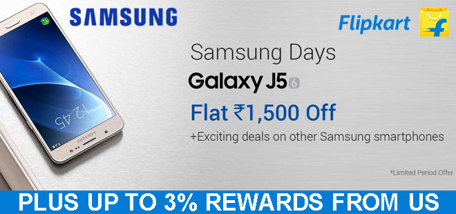 indiancashback-Flat-Rs-1000-off-on-Galaxy-J5-2016----Up-to-3percent-reward-from-us