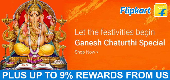 indiancashback-Ganesh-Chaturthi-Special-offers---Up-to-9percent-rewards-from-us