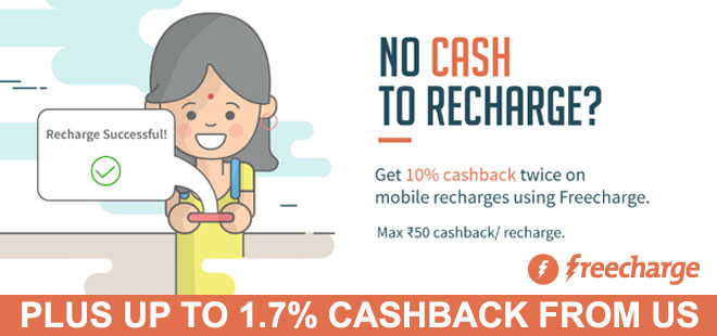 indiancashback-Get-10percent-freecharge-cash-on-Prepaid-recharges---Additional-1-70percent-cashback-from-us