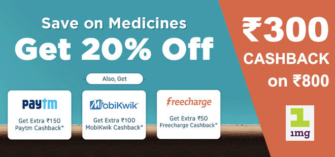indiancashback-Get-20percent-Off-On-Allopathy-Medicines---Get-Extra-Rs150-Cashback-On-Payments-Via-Paytm-Wallet---Additional-