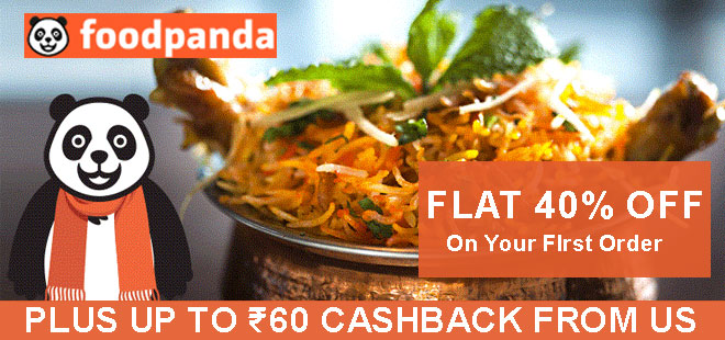 indiancashback-Get-flat-40percent-off-on-first-order-at-Foodpanda---Up-to-Rs-60-cashback-from-us