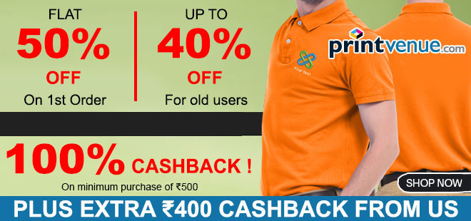 indiancashback-Get-Flat-40percent-Off-on-Polo-T-Shirt-with-Customization---Additional-Rs-400-cashback-from-us