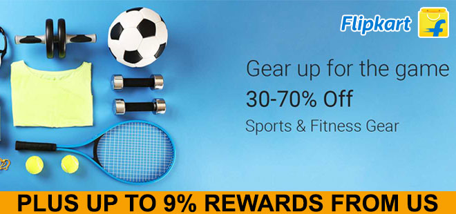 indiancashback-Get-Minimum-30percent-OFF-on-Sports---Fitness-Gear---Up-to-9percent-rewards-from-us