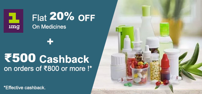 indiancashback-Get-Rs500-Cashback-on-orders-of-Rs800-or-more---Flat-20percent-discount-on-Medicines----