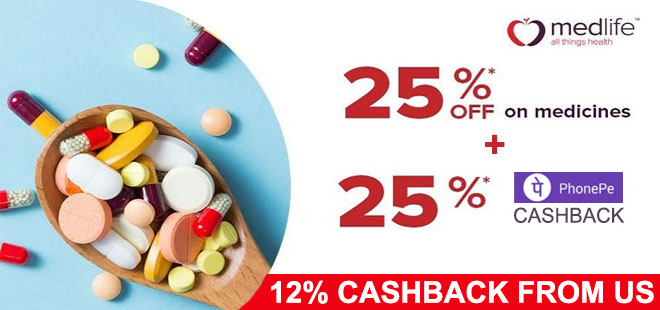 indiancashback-Get-Up-to-25percent-off-on-medicines---25percent-E-cash-points---25percent-PhonePe-Cashback---Additional-12per