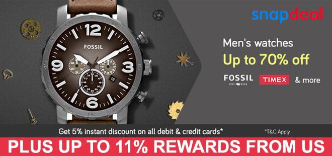 indiancashback-Get-Up-To-70percent-Off-On-Men-s-Watches---Up-to-11percent-rewards-from-us