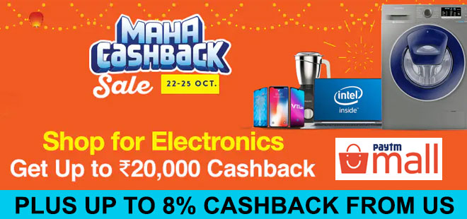 indiancashback-Maha-Cashback-Sale-Days-22th-to-25th-Oct--Get-Up-To-Rs-20000-Cashback-on-Electronics---Additional-10percent-Ca