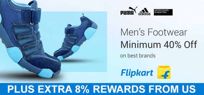 indiancashback-Men-s-Footwear--Minimum-40percent-off-on-best-brands---Additional-8percent-rewards-from-us
