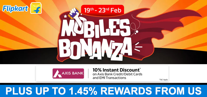 indiancashback-Mobile-Bonaza-Day-Offer--Up-To-30percent-Off-On-Mobiles---Extra-10percent-Instant-Discount-On-Pay-With-Axis-Ba