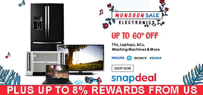 indiancashback-MONSOON-SALE--Up-to-60percent-off-on-Electronics---Up-to-8percent-reward-from-us
