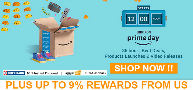 indiancashback-Prime-Day-Offer--Get-extra-10percent-Instant-discount-on--HDFC--card---Up-to-9percent-rewards-from-us