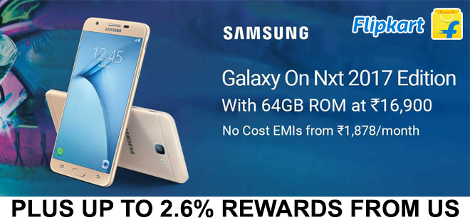 indiancashback-SAMSUNG-Galaxy-On-Nxt-2017-64GB-ROM-3GB-RAM-In-Just-Rs-16-900---Up-to-2-6percent-rewards-from-us