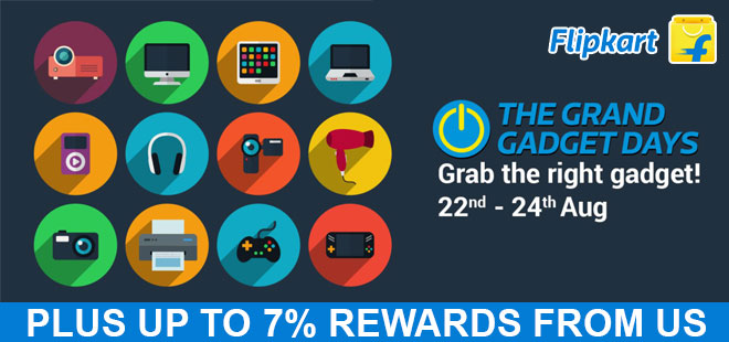 indiancashback-The-Grand-Gadget-Days--Aug-22nd-to-24th---Up-to-7percent-rewards-from-us