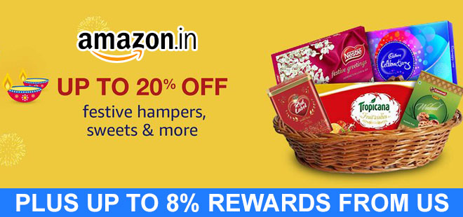 indiancashback-Up-to-20percent-off-on-Festive-hampers--sweets---more---Up-to-8percent-rewards-from-us