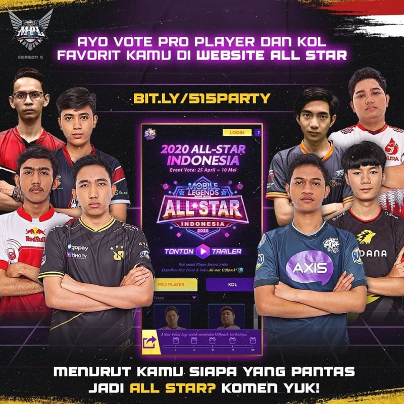 Memenangkan Voting All Star Indonesia 2020, Monton