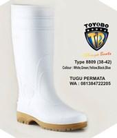 Jual Sepatu BOOT TOYOBO Putih Hijau kuning 8809 8805 8808