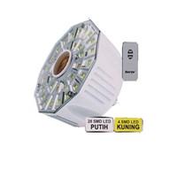 Jual Surya Lampu Emergency 32 SMD LED FITTING E-27 dilengkapi Remote Control SRE L3208 RC