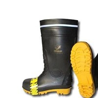 Picture of Sepatu Safety Boot Cougar Gumboot Black 1912