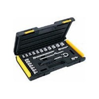 "Jual Toolset Stanley Socket Set 3:8"" Dr 24Pc 6Pt Met"